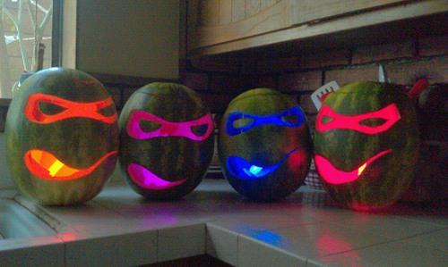 tmnt-watermelon-carvings